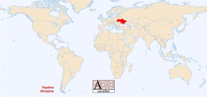 Ukraine Carte Du Monde.Ukraine